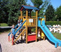 Playground at campsite in the Vosges, Au Clos de la Chaume
