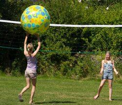 Volleyball at Au Clos de la Chaume, Sites et Paysages campsite in the Vosges