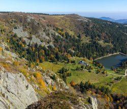 Au Clos de la Chaume campsite: Panoramic View of the Ballons Des Vosges Natural Park