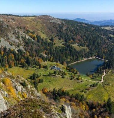 Au Clos de la Chaume campsite: Panoramic View of the Ballons Des Vosges Natural Park Square Format